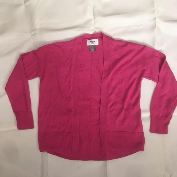 Old Navy girls pink cardigan.